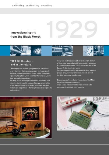 Company profile as PDF download - Hugo Müller