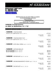hamann - Tuning