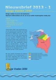Nieuwsbrief 2013 - 1 - Provincie Groningen