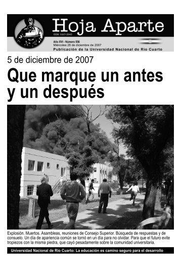 5 de diciembre de 2007 - Universidad Nacional de Río Cuarto