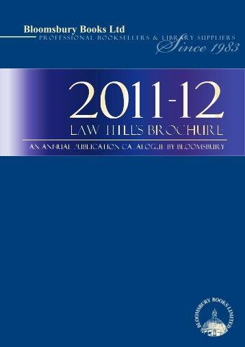 Law Titles Brochure 2011-2012 - Bloomsbury Books Ltd