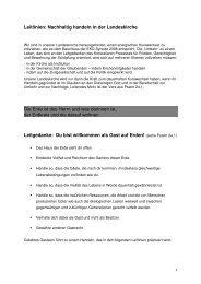 Leitlinien: Nachhaltig handeln in der Landeskirche Die Erde ist des ...
