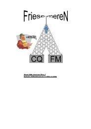 CQ FM Nieuws maart 2006 - Veron Friese Meren