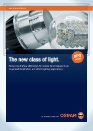 The new class of light. - OSRAM