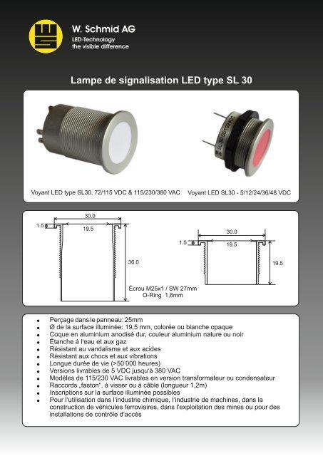 Led De Signalisation Lampe 30 Sl Type QshCtdr