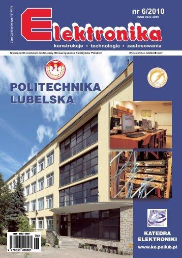 Elektronika 2010-06 I.pdf - Instytut Systemów Elektronicznych ...