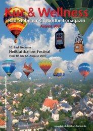 10. Bad Stebener Heißluftballon-Festival 10.-12. August 2007