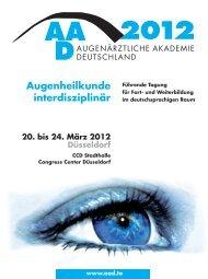 Kurse - AAD Augenärztliche Akademie Deutschland