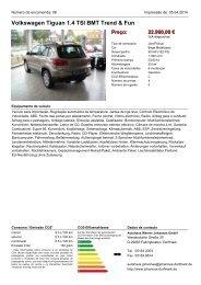 Fahrzeug-Exposé - Autohaus Werner Johannes GmbH