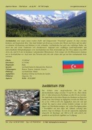 Aserbaidschan wird wegen seinen reichen Erdöl- und Erdgasvorräte