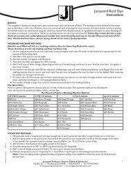 Acid Dye Instructions - Jacquard Products