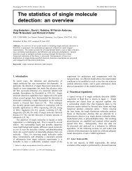 The statistics of single molecule detection: an ... - Joerg Enderlein