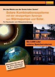 Solare Kombinationssysteme - Sonne3 GmbH