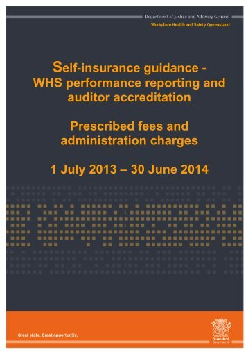 Self-insurance guidance - Queensland Government