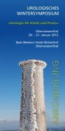 urologisches wintersymposium - Porstmann Kongresse GmbH