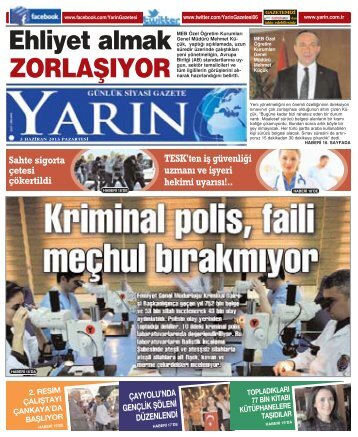 Ankara 3 Haziran 2013