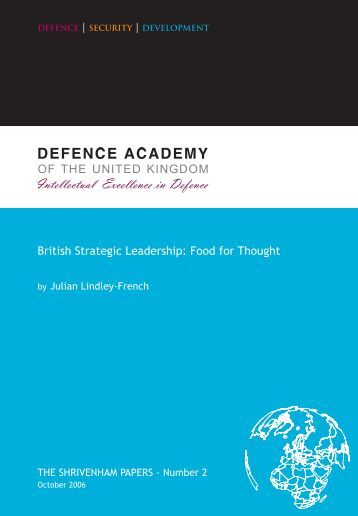 British Strategic Leadership: Food for Thought - Defence Academy ...