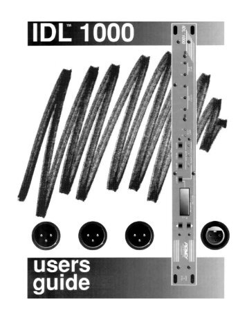 IDL 1000 - Peavey Commercial Audio