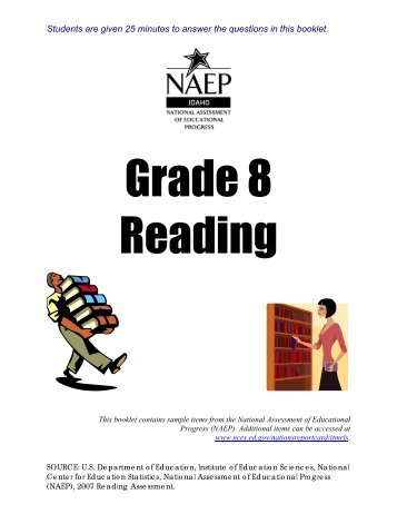 NAEP Practice Test - Reading - Grade 8 - Idaho State Department of ...
