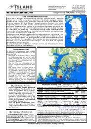Ostgrönland Exkursion (pdf) - ISLAND Erlebnisreisen