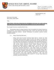 Siaran Peperiksaan Luar Jadual - Jabatan Pelajaran Negeri Kedah