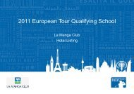2011 European Tour Qualifying School