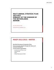 MASP 2012-2015 - WATER - Partners voor Water