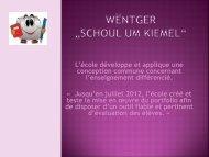 """Wëntger """"Schoul um Kiemel"""" - Wincrange"""