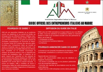 GUIDE OFFICIEL DES ENTREPRENEURS ITALIENS AU MAROC