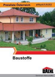 Baustoffe Preisliste Österreich gültig ab 01.04.2012 - C-Bergmann