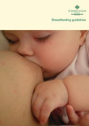 Breastfeeding guidelines - St John of God Health Care
