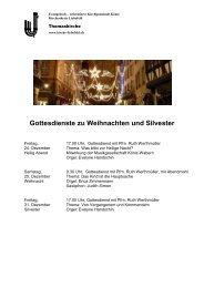 Gottesdienste Weihnachten und Silvester - Kirchenkreis Liebefeld