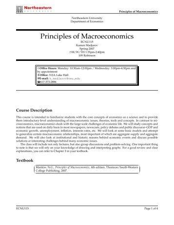 eco 100 principles of economics Eco 100 principles of economics eco 102 macroeconomics eco 103 microeconomics eco 105 consumer economics eco 150 money, credit & banking.
