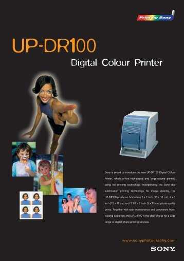 Brochure Sony UP-DR100