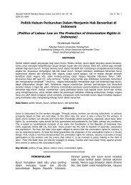 4.Politik Hukum Perburuhan Dalam Menjamin Hak ... - Risalah Hukum