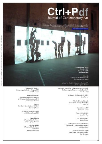 Issue 15 - Pdf Ctrl+P - CTRL+P: a journal of contemporary art