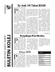 Buletin Kolej Edisi Oktober 2006 - Jabatan Pelajaran Negeri Kedah
