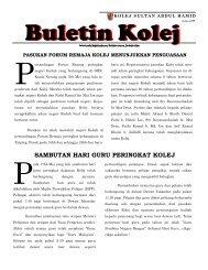 Buletin Kolej Edisi Julai 2009 - Jabatan Pelajaran Negeri Kedah