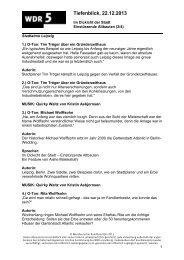 (2/4): Einstürzende Altbauten (PDF-Download: 159,8 KB) - WDR 5