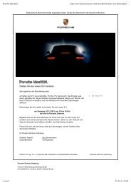 Erleben Sie den neuen Porsche 911