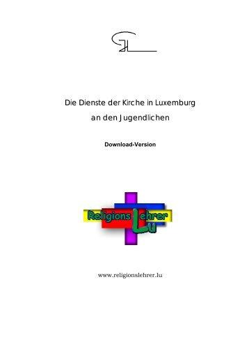 Die Dienste der Kirche in Luxemburg an den Jugendlichen