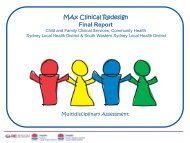 Max Clinical Redesign: Final Report ( pdf - 900 KB) - ARCHI