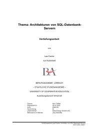 Thema: Architekturen von SQL-Datenbank- Servern