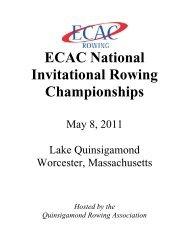 2011 ECAC National Invitational Rowing Championships - Row2k