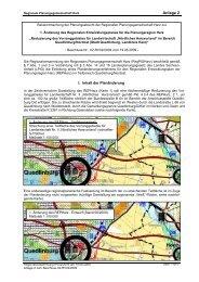 REGIONALER ENTWICKLUNGSPLAN - bei Regionale-Planung.de