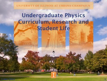 Physics Curriculum - University of Illinois High Energy Physics ...