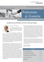 FORSCHUNG CHANCEN - Universität Mannheim