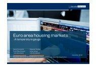 Euro area housing markets - Danske Analyse - Danske Bank