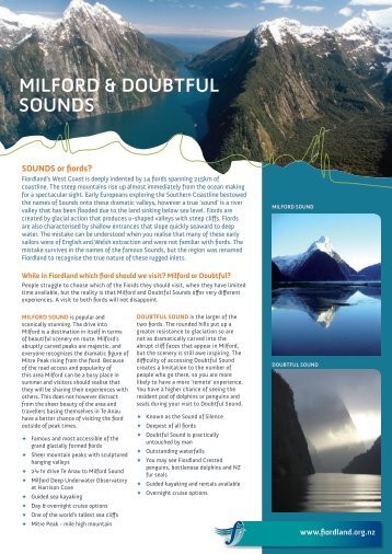 milford & doubtful sounds - Destination Fiordland