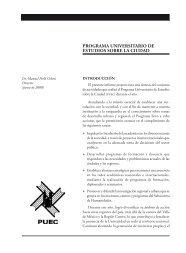 Programa Universitario de Estudios sobre la Ciudad - Dirección ...